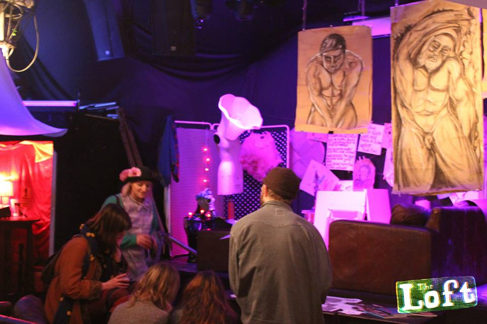 Live drawing booth