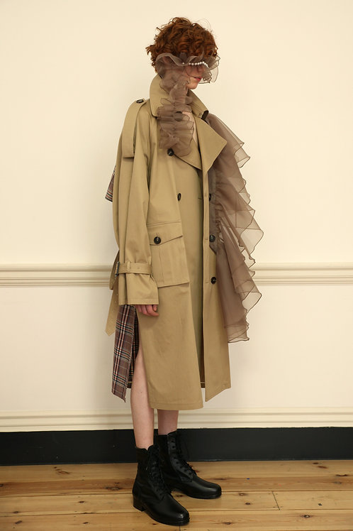 Tartancheck Trench coat Beige