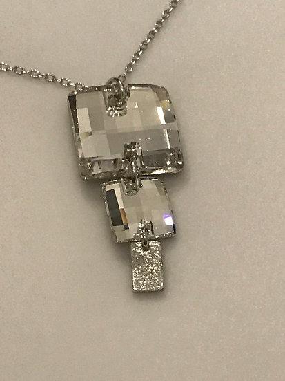 """Collier avec du cristal de Swarovski """"Cristal"""""""