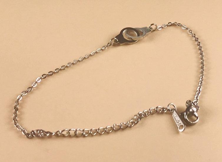 Bracelet Menottes acier