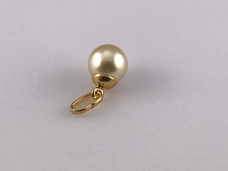 pendentifs perle et plaqué or