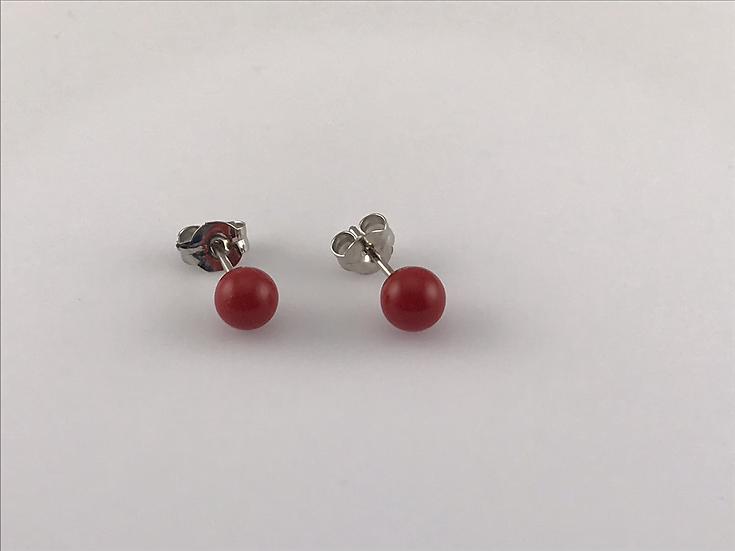 Boucles d'oreilles Perles de Majorque et laiton rhodié