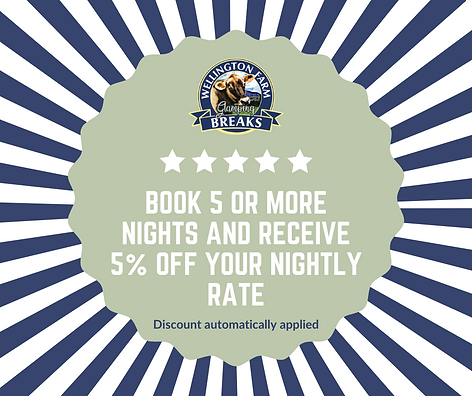 Book 5 or more night and receive 10% off