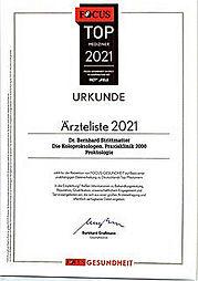 Focus-Zertifikat Dr. Strittmatter 2021