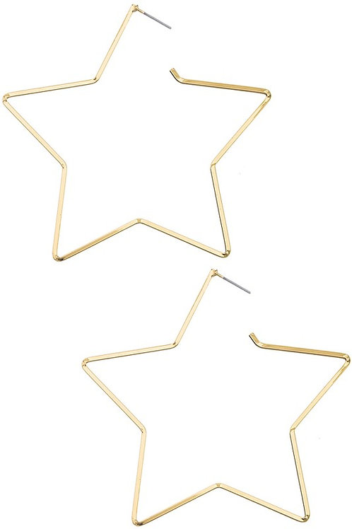 Classic Gold Star Hoop