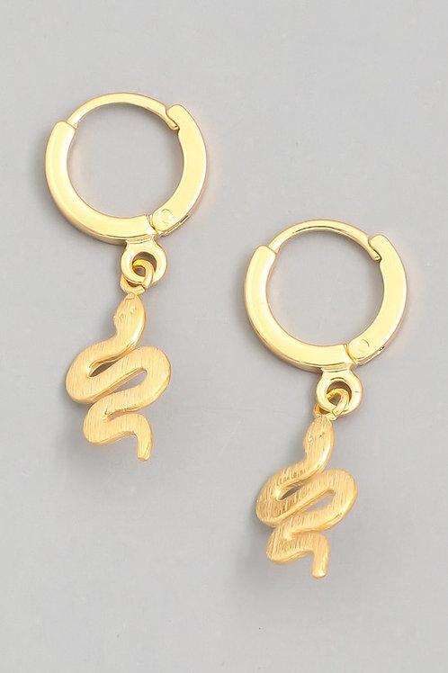 Mini Snake Drop Earrings