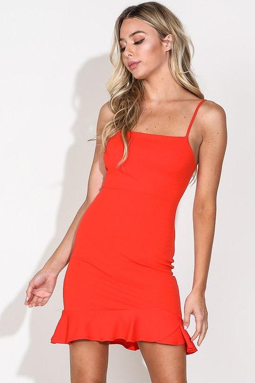 Rowan Coral Red Dress