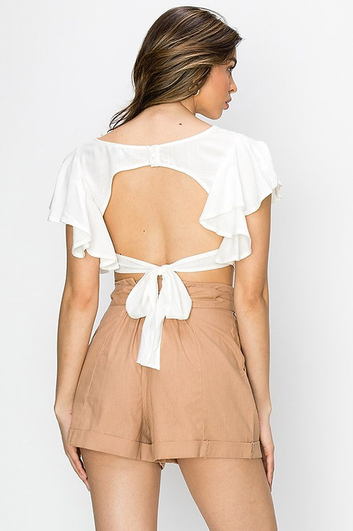Shiloh Open-Back Tie Top