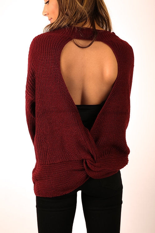 Sasha Open-Back Sweater