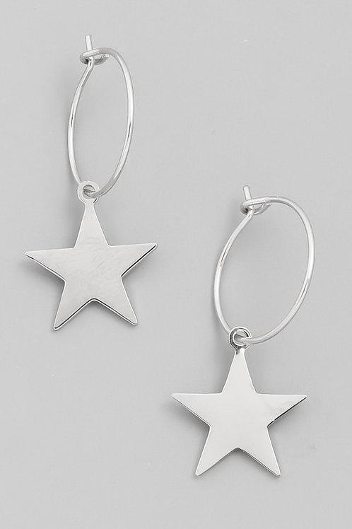 Stellar Dangle Earrings- Silver