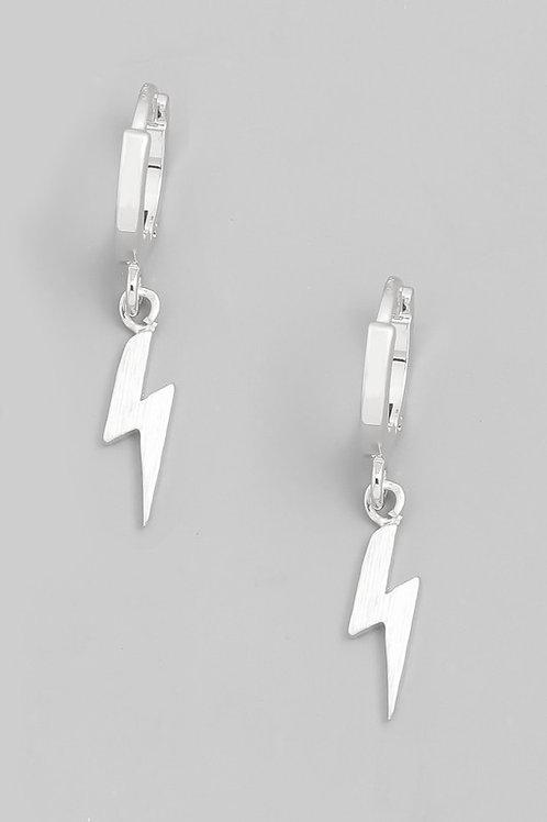 Bolt Hoops- Silver