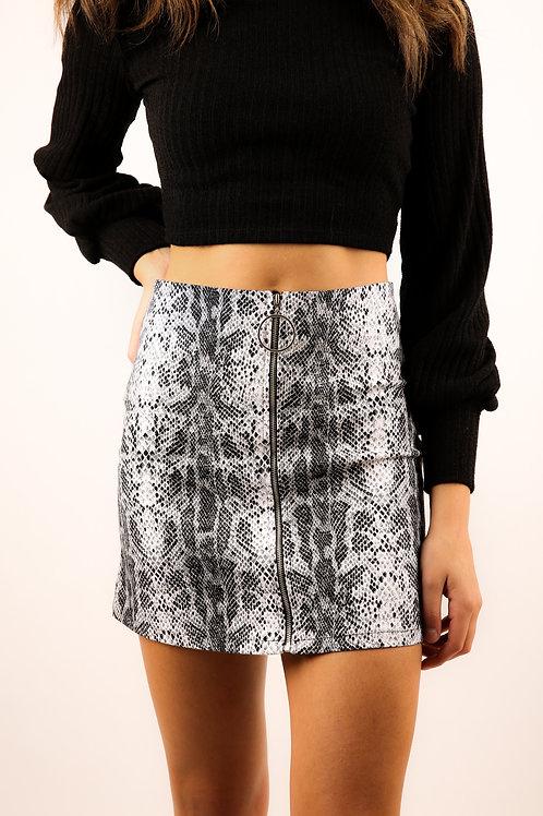 B&W Snake Skin Skirt