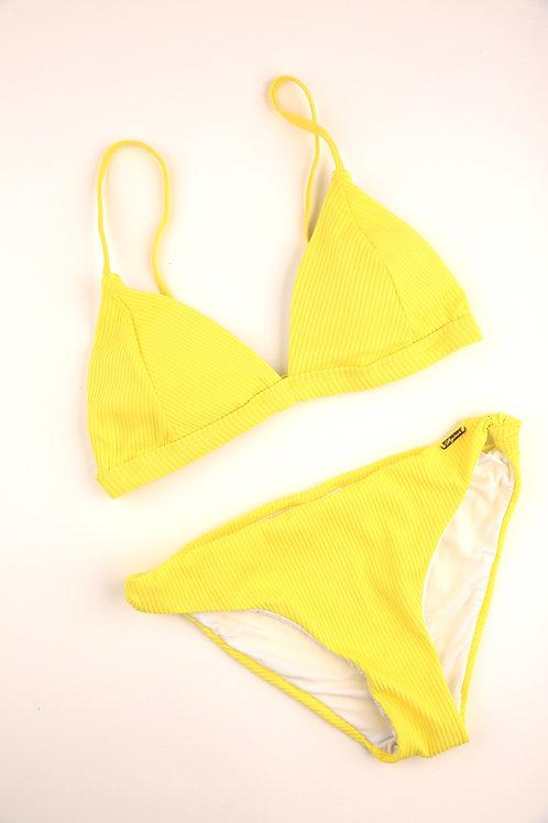 Vibrant Yellow Triangle Top