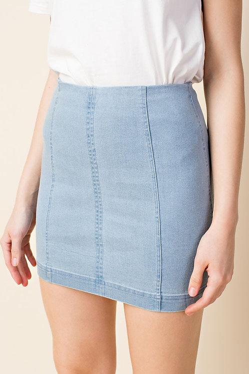 Lily Light Denim Skirt