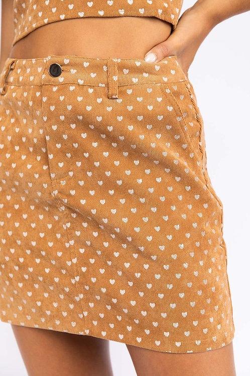 Heart Breaker Corduroy Skirt