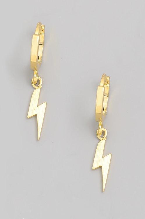 Bolt Hoops- Gold