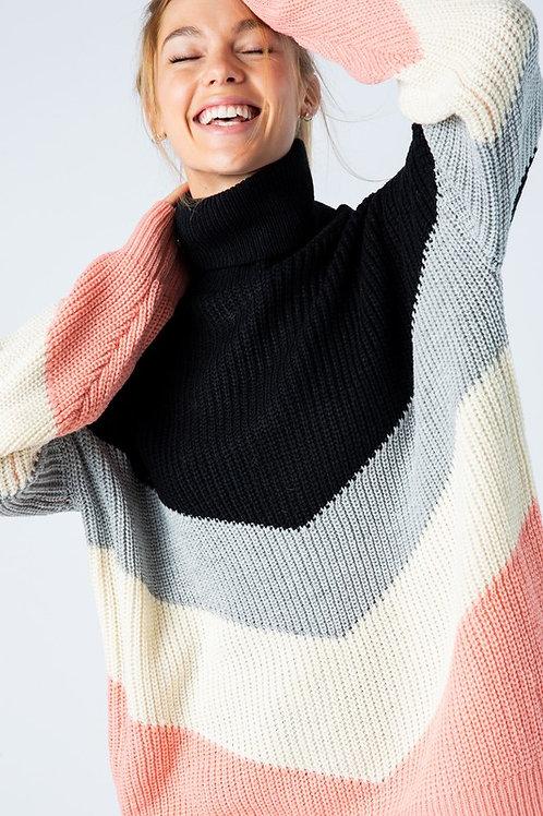 Alice Color Block Sweater