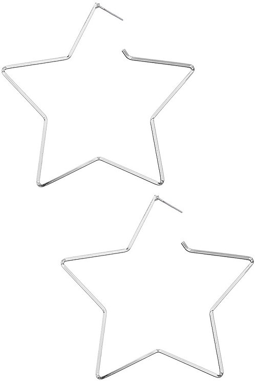 Classic Silver Star Hoop