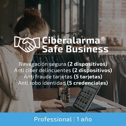 Ciberalarma® Safe Business PROFESSIONAL (Protección total profesionales | 1 año)