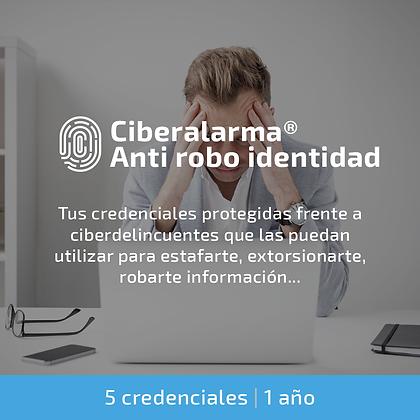 Ciberalarma® Anti robo de identidad (5 credenciales | 1 año)