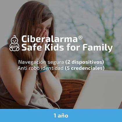 Ciberalarma® Safe Kids for Family (Menores protegidos) (1 año