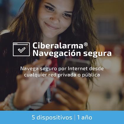 Ciberalarma® Navegación Segura (5 dispositivos | 1 año)