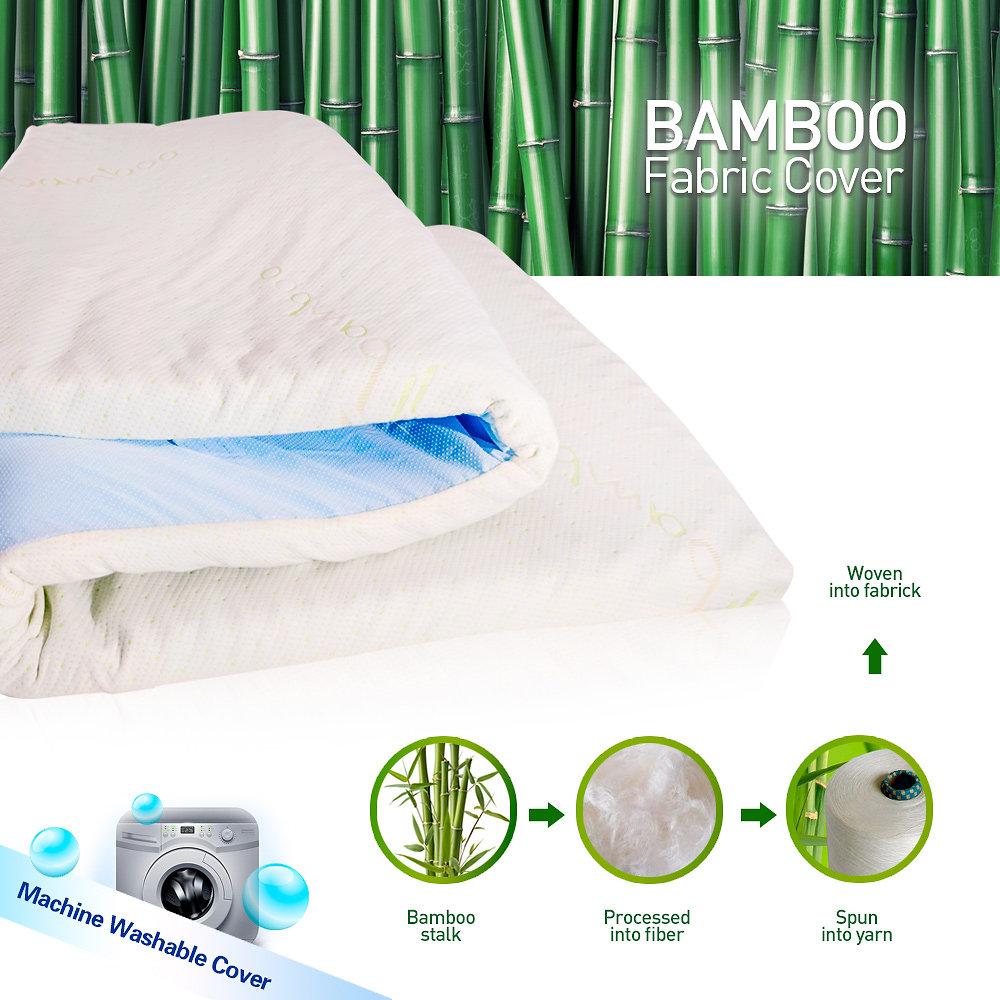5CM Single Cool Visco Elastic Memory Foam Mattress Topper Bamboo Fabric