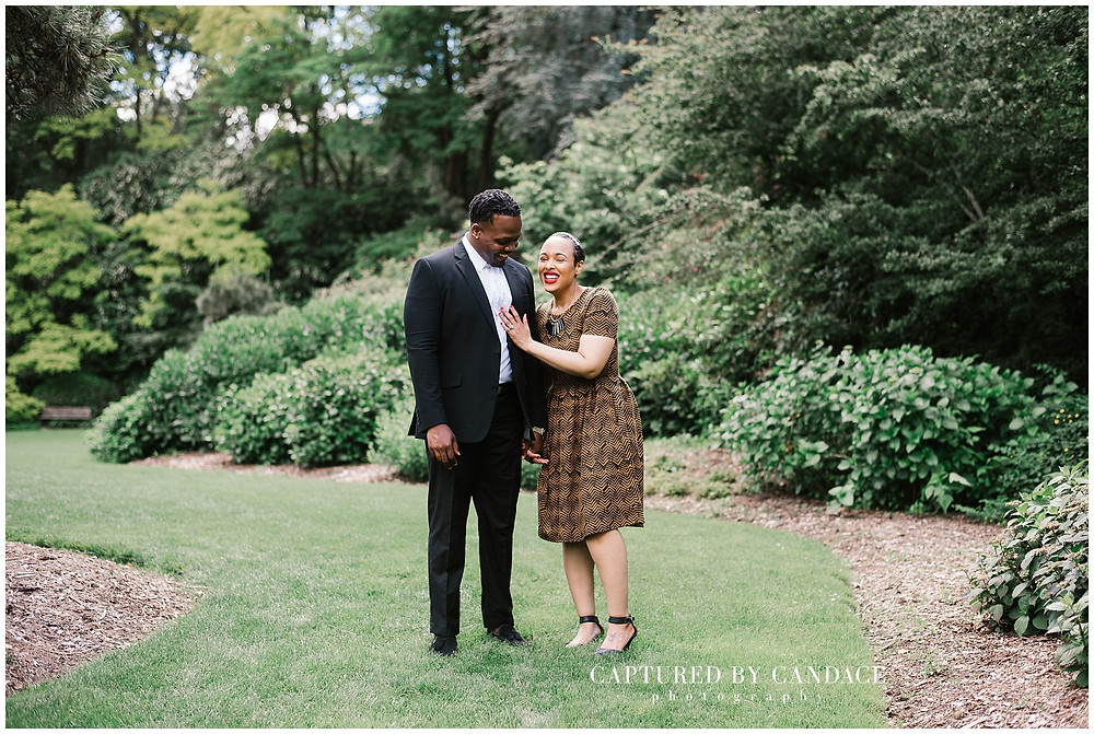 Summer engagment photos at Kubota Garden in Seattle by Captured by Candace Photography