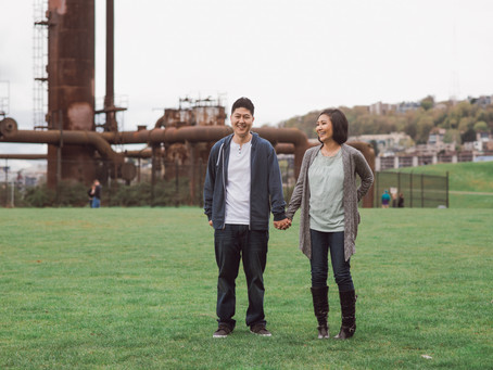 Gasworks Park Engagement // Lisa + Handol