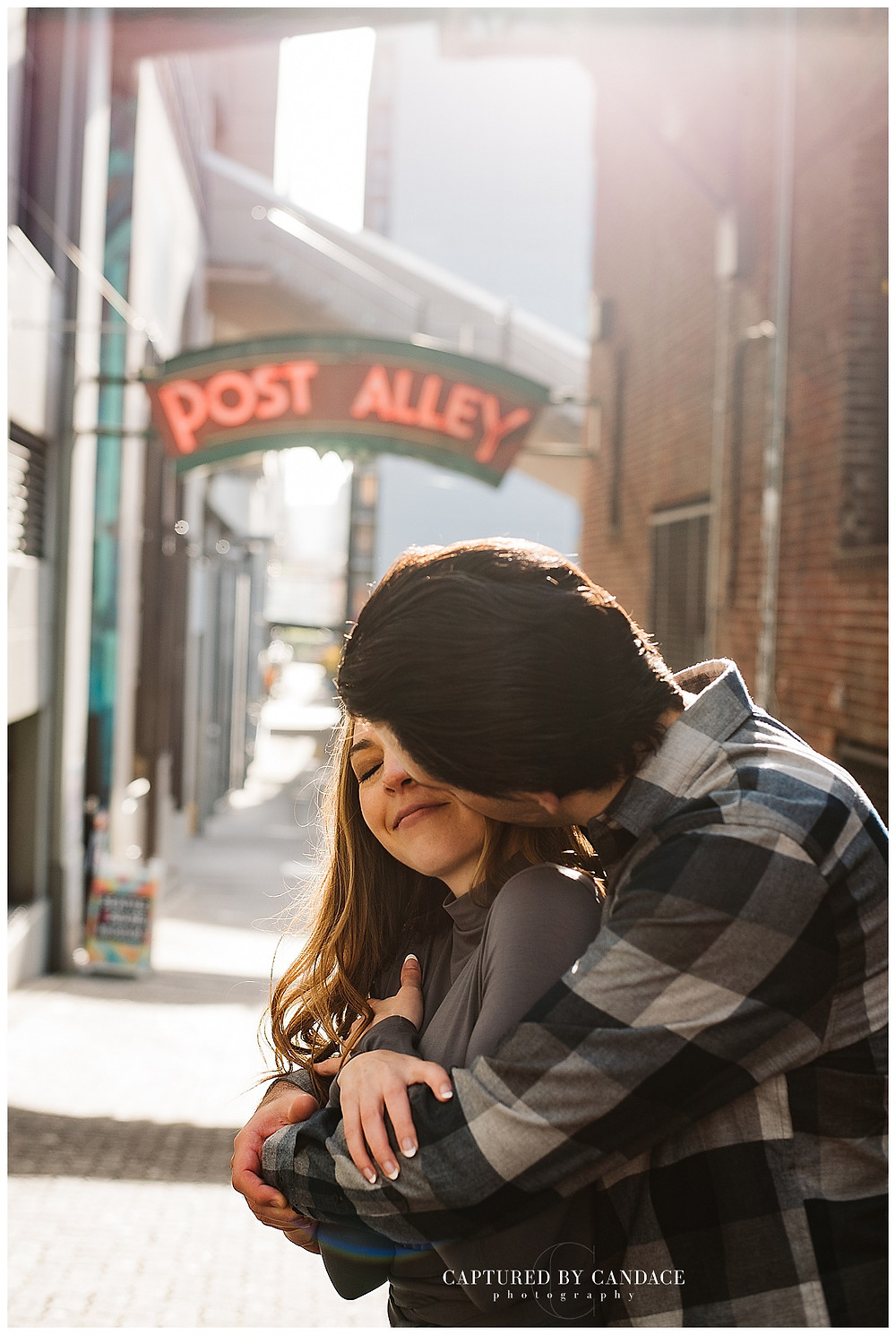 Pike Place Market Engagement, Downtown Seattle - Captured by Candace Photography