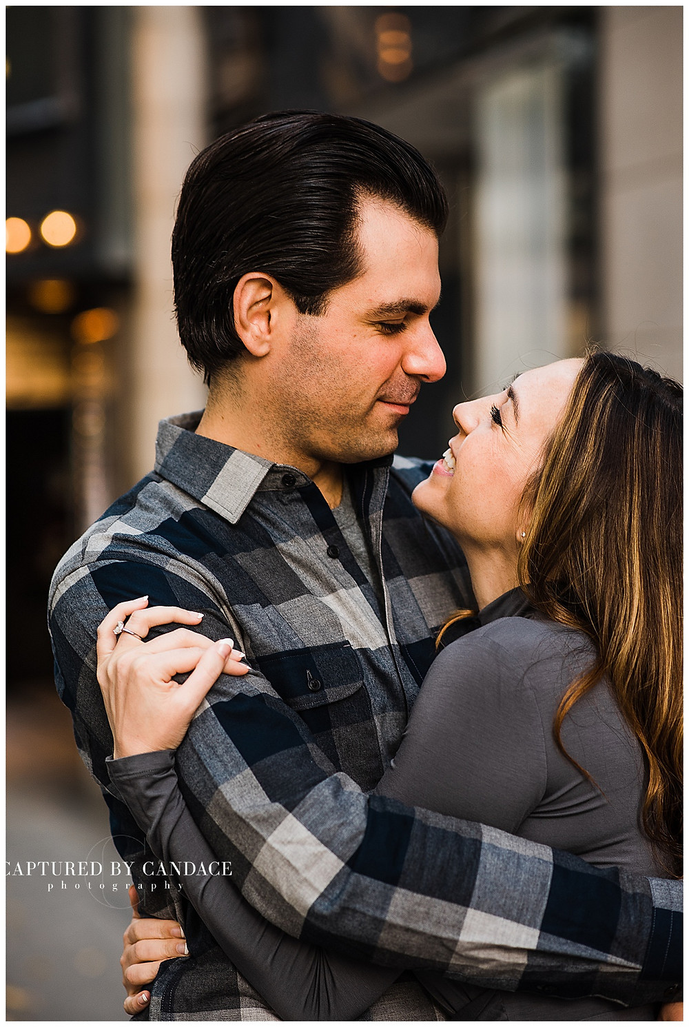 Downtown Seattle Engagement Session - Captured by Candace Photography