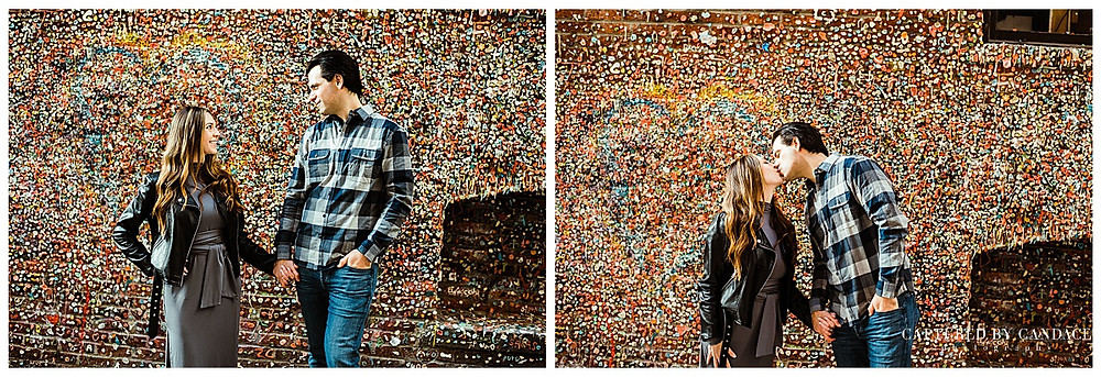 Pike Place Market Engagement Session Downtown Seattle - Captured by Candace Photography
