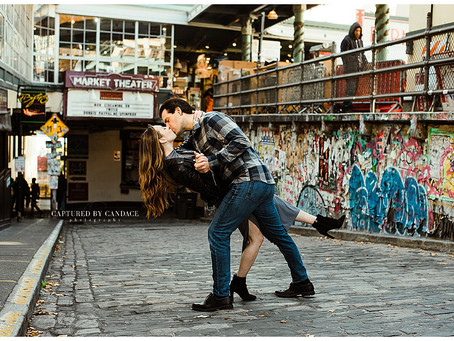 Downtown Seattle + Pike Place Market  Engagement // Sarah + Dan // Seattle Wedding Photographer