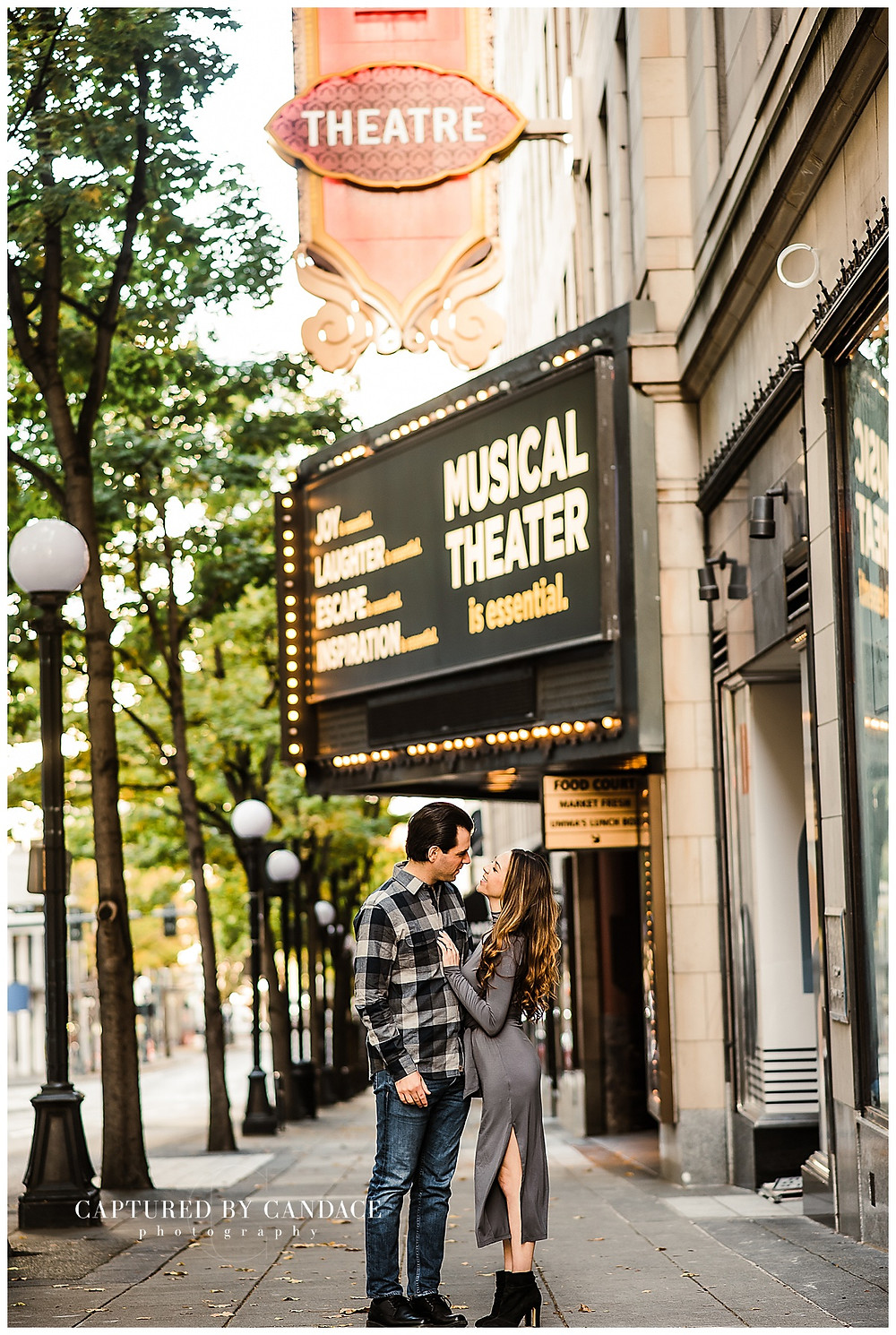 Pike Place Market Engagement Session, Downtown Seattle - Captured by Candace Photography