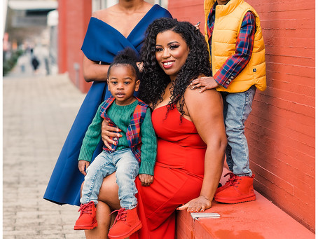 Holiday Glam Family Session