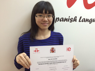 Great job Tsz Yan Man on passing your DELE exam level A2. You make us very proud!