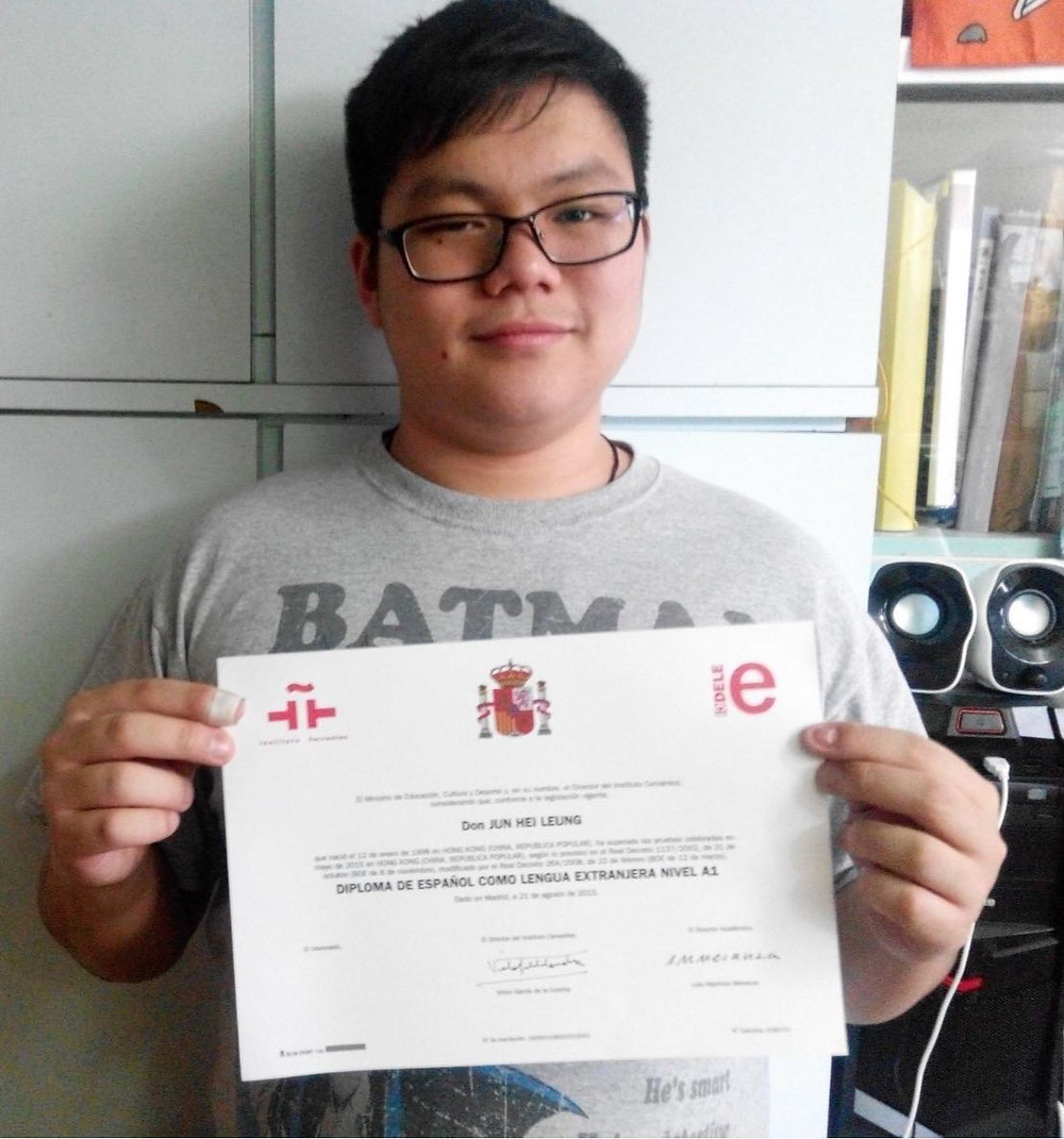 Jun Hei Leung Diploma DELE Level A1