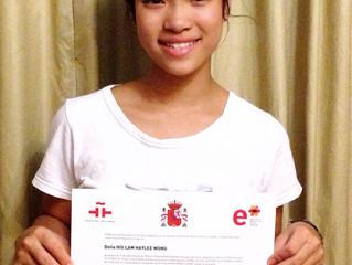 Congratulations Haylee Wong!!!