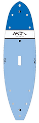 The EZ Wider SUP is as epoxy stand up  paddle board featuring , 3 fins, 8 tie down plugs, camera and leash plugs, full deck pad,  A very durable,  very stable  shape info@dolsey.com  1 800 969 7473