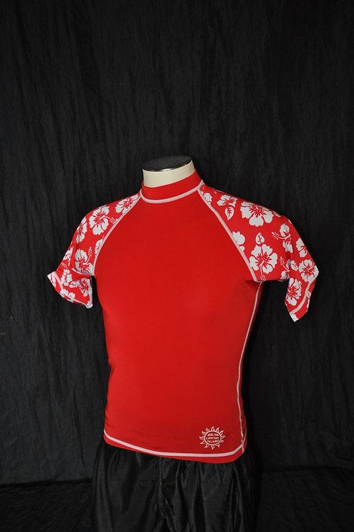 Rashguard - Short sleeve - Aloha print sleeve - 50+SPF