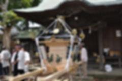 晩香坡 櫻會神輿 完成渡御前