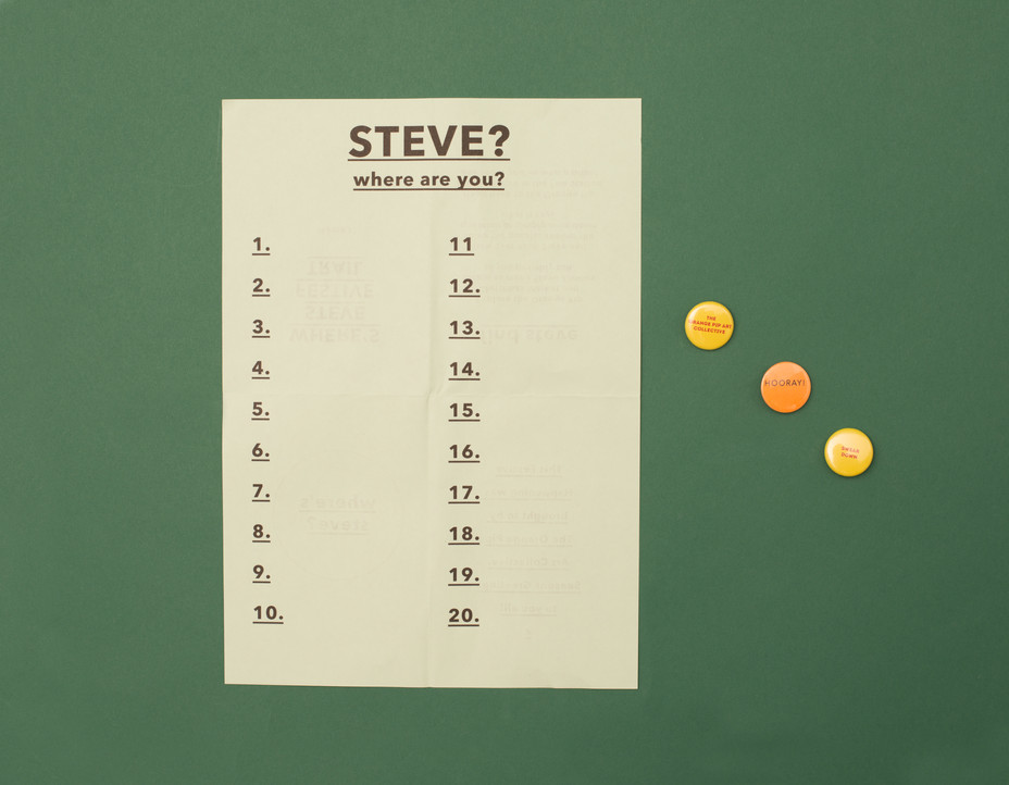 Steve? Where Are you?