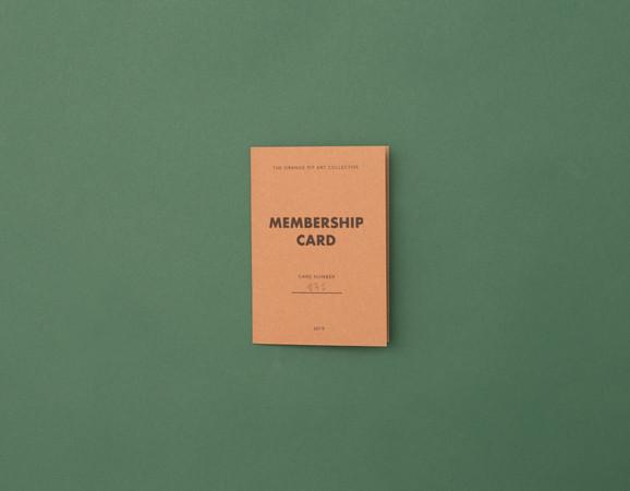 Orange Pip Art Collective Membership Card