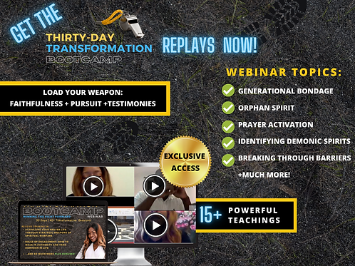 30-DAY TRANSFORMATION BOOTCAMP REPLAYS