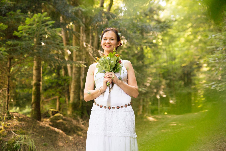 Mariage Alsace bouquet forêt
