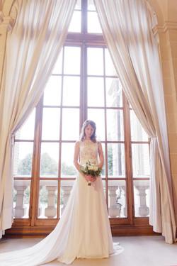 Mariée bouquet château