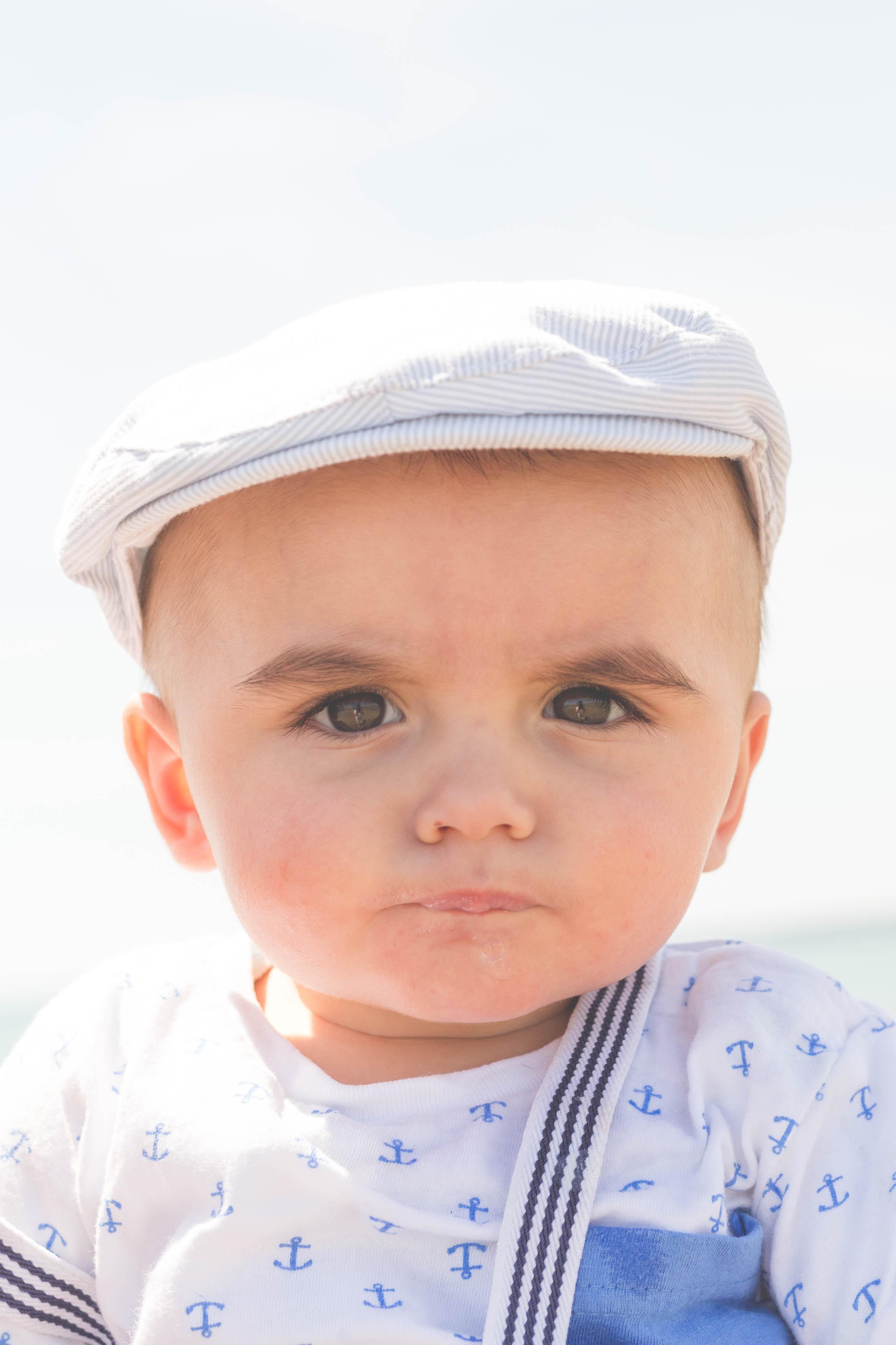 Portrait bébé plage