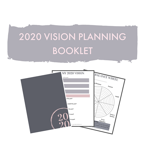 2020 Vision Planning Booklet | A4 Yearly & Monthly Planner
