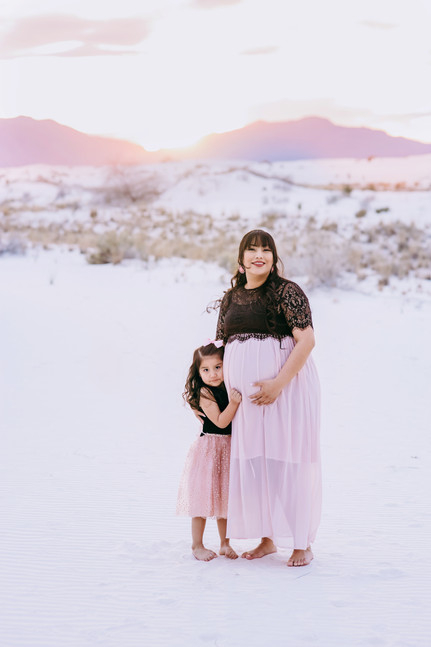 Maternity Session White Sands NM