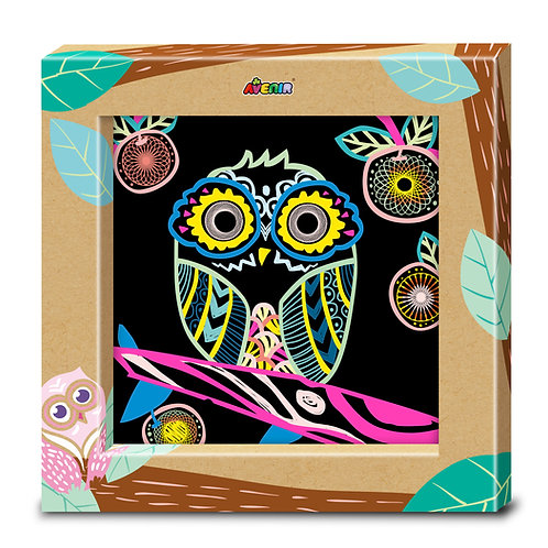 Toyzon Photo Frame Art Scratch -Owl